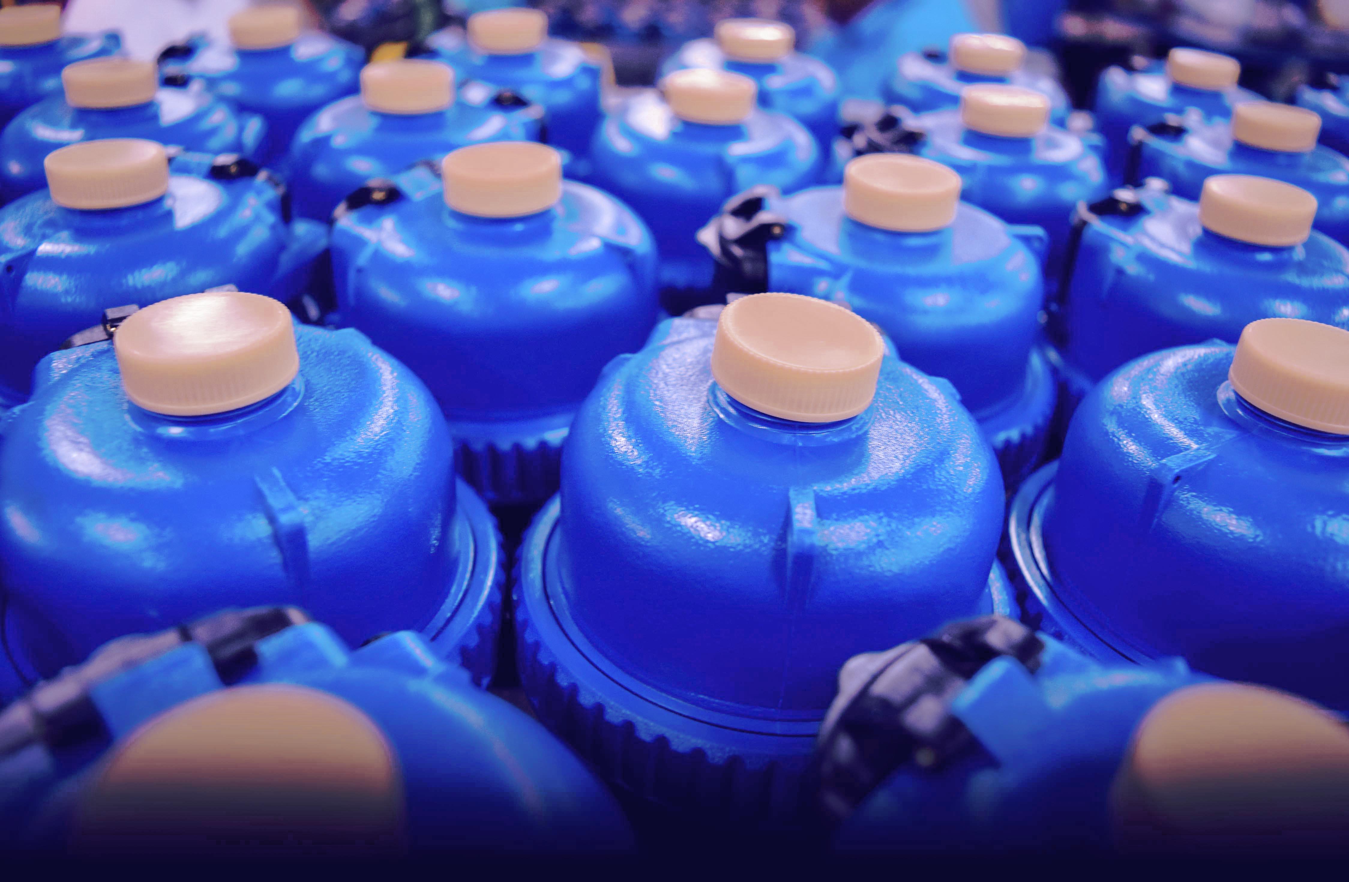 water meters llight blue